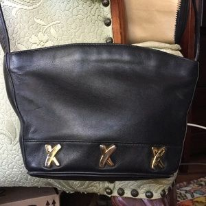 Purse by Paloma Picasso black leather